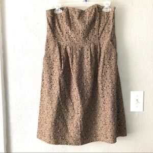Fossil Strapless Pocket Lace Overlay Dress Sz M
